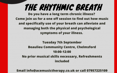 FREE Music Therapy Session – The Rhythmic Breath for people with Chronic Illness as part of the British Science Festival